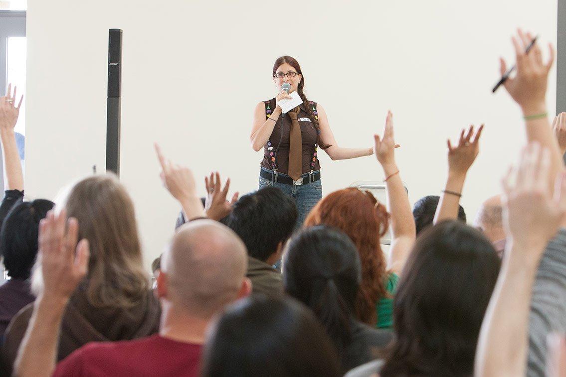 Jill Binder speaking at Freelance Camp 2012. Photo credit: jeremylimphotography.com